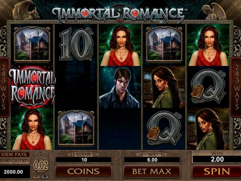 Feel the spirit of mysterious love in the Immortal Romance slot review